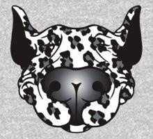 Bull Terrier Leopard Cow Baby Tee