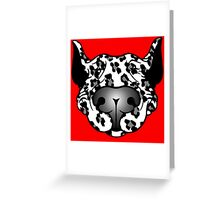 Bull Terrier Leopard Cow Greeting Card