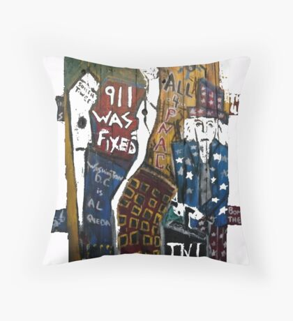 9-11 WAS FIXED WOOD SUPPORTS Throw Pillow