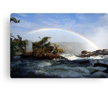 water under the rainbow Canvas Print