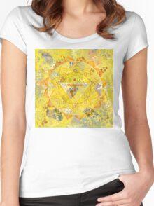 Third Chakra Mandala Women's Fitted Scoop T-Shirt