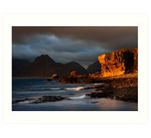 Elgol in November , Isle of Skye, Scotland. Art Print