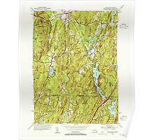 Massachusetts  USGS Historical Topo Map MA Wales 352298 1952 31680 Poster