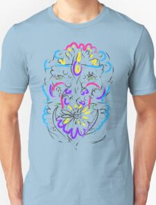 Retro-Psychedelic Flowers T-Shirt