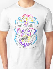 Retro-Psychedelic Flowers Unisex T-Shirt
