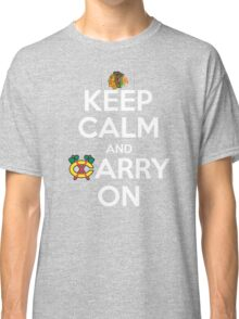 Keep Calm Carry On Blackhawks Classic T-Shirt