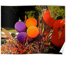 Autumn Colored Balloons Poster