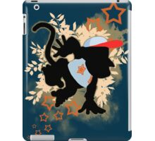 Super Smash Bros. Light Blue Diddy Silhouette iPad Case/Skin