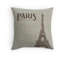 Destination: Paris Throw Pillow