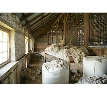 Woolshed in colour Photographic Print