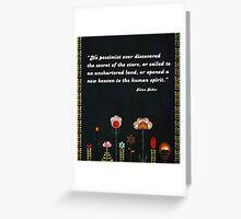 No More Pessimism Greeting Card Greeting Card