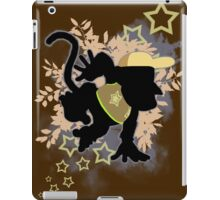 Super Smash Bros. Light Brown Diddy Silhouette iPad Case/Skin