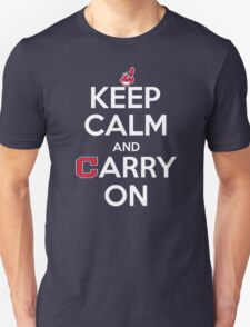 Keep Calm Carry On Indians T-Shirt