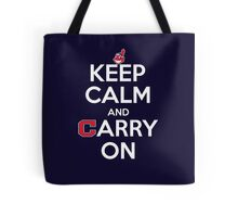 Keep Calm Carry On Indians Tote Bag