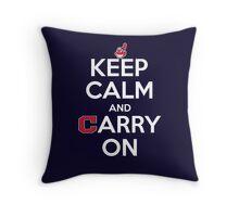 Keep Calm Carry On Indians Throw Pillow