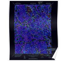 Massachusetts  USGS Historical Topo Map MA Norton 352010 1951 31680 Inverted Poster