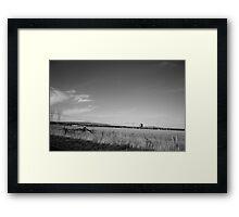 Stark landscape Framed Print