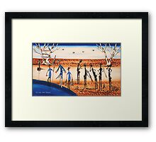 FIRST BOAT PEOPLE Framed Print