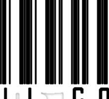 Evil Corp Barcode - Black Sticker