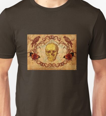 Skull, Crows and Roses T-Shirt