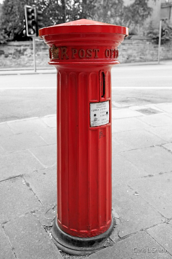 Red Letter Box - Royal Mail England by Chris L Smith