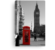 Red Telephone Box in Westminster London Canvas Print