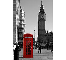 Red Telephone Box in Westminster London Photographic Print