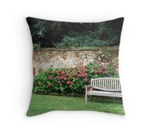 Garden Bench (original )  Throw Pillow