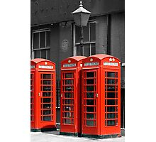 Red Telephone boxes in London Photographic Print