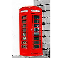 Single red phone box in London Photographic Print