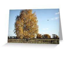 yelow tree  Greeting Card