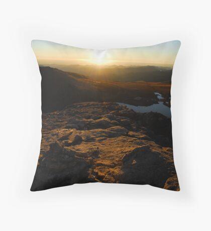 Summit Lake Throw Pillow
