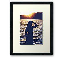 Drifting toward Summer's Night Framed Print