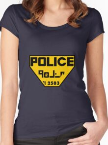 Police Logo from The Fifth Element Women's Fitted Scoop T-Shirt