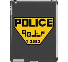 Police Logo from The Fifth Element iPad Case/Skin