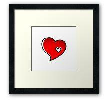 Heart in the heart Framed Print
