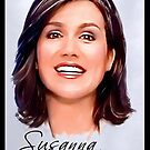 Susanna Reid postcard portrait by wu-wei