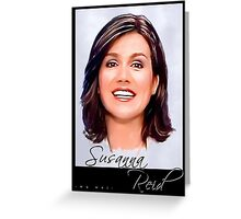 Susanna Reid postcard portrait Greeting Card