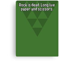 Rock is dead. Long live paper and scissors. Canvas Print