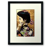 Japanese Geisha: Tehura  Framed Print