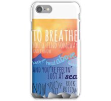 Tides Lyrics iPhone Case/Skin