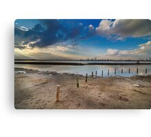 Sand, Water and Industry. Canvas Print