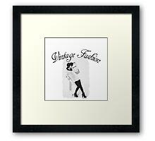 Vintage Fashion In Black And White Framed Print