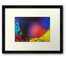 Oil on Water 11 Framed Print