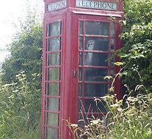 old british telephone box by caroline1983
