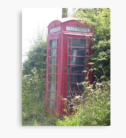 old british telephone box Canvas Print