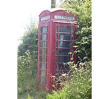 old british telephone box Photographic Print