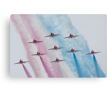 Red Arrows at Southport Canvas Print