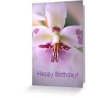 Happy Birthday Orchid Greeting Card