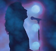 Robert Plant on Stage by Sara Pixel Pixie